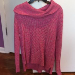 American Eagle Outfitters Pink/Grey Turtleneck
